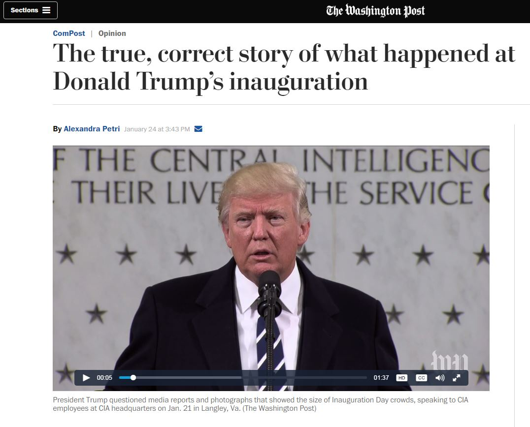 Washington Post datant de DC